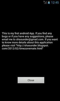 Timezonemate apk screenshot