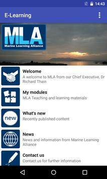 MLA E-Learning poster