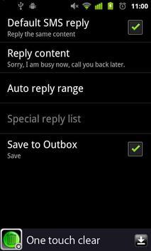 Auto reply apk screenshot