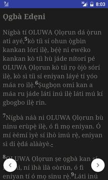 Yoruba Bible apk screenshot