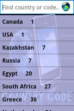 Country Code Simple apk screenshot