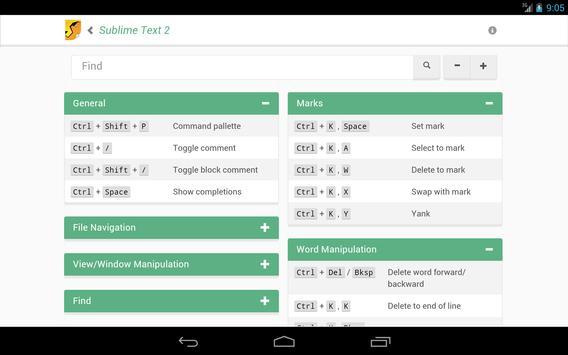 CheetApp Cheat Sheets apk screenshot