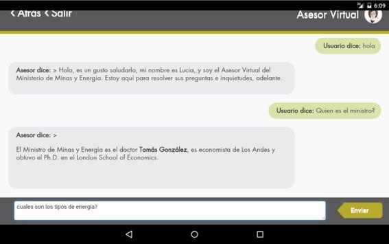 Asesor MinMinas apk screenshot