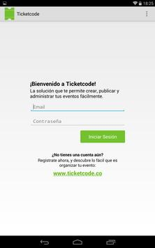Ticketcode apk screenshot