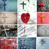 耶稣, 十字架, 喜报,  _Chinese icon