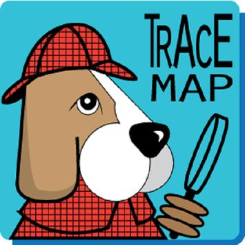 Trace Map poster