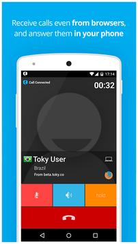 Toky: Free calls with links apk screenshot