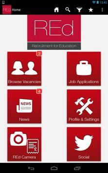 REd Teachers Education Jobs poster