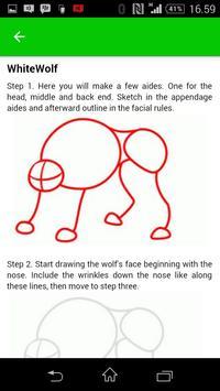 How to draw manga animal apk screenshot