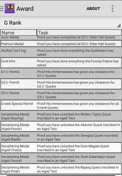 MH4U Hunter's Guide apk screenshot