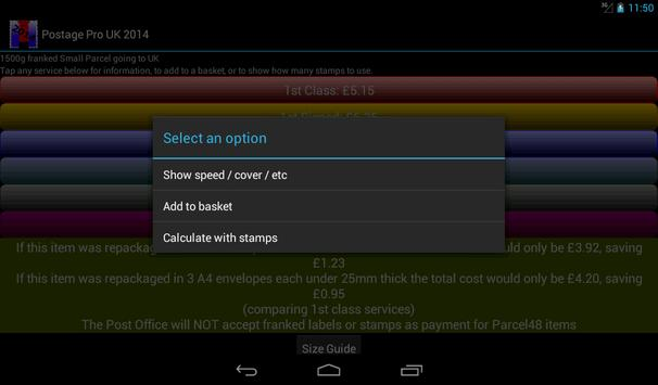 Postage Pro UK 2016 Free apk screenshot