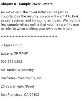 Cover Letter apk screenshot