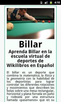 Billar poster