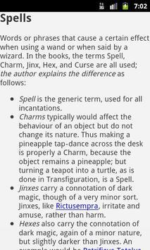 Muggles' Guide to Harry Potter apk screenshot