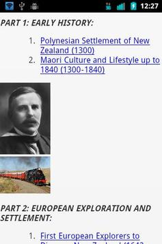 New Zealand History poster