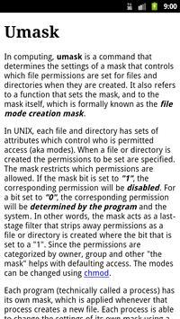 Unix Commands apk screenshot
