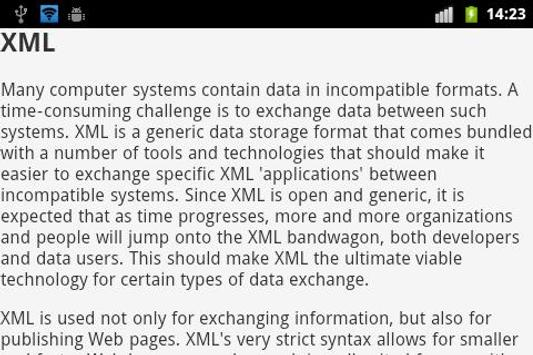 XML EBook apk screenshot