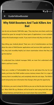 Guide for Yellow Booster apk screenshot