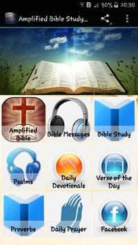 Amplified Bible Study Free poster