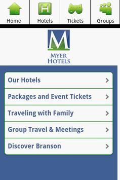 Myer Hotels - Branson Missouri poster