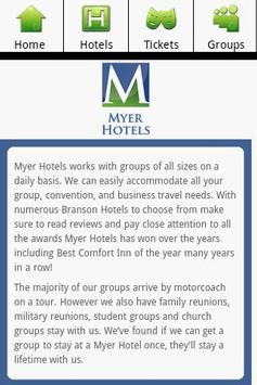 Myer Hotels - Branson Missouri apk screenshot