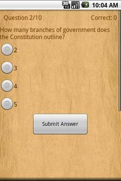 US Constitution poster