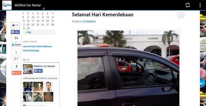 MORich Car Rental apk screenshot