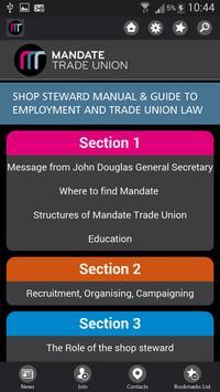 Mandate Trade Union App apk screenshot