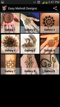 Easy Mehndi Designs poster
