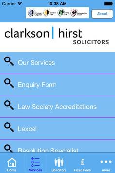Clarkson Hirst Solicitors apk screenshot