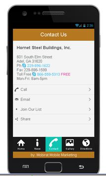 Hornet Steel Buildings apk screenshot