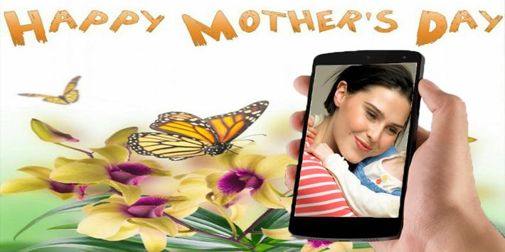 Mother's day card photo frame poster