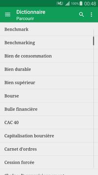 Dictionnaire économique eco fr apk screenshot