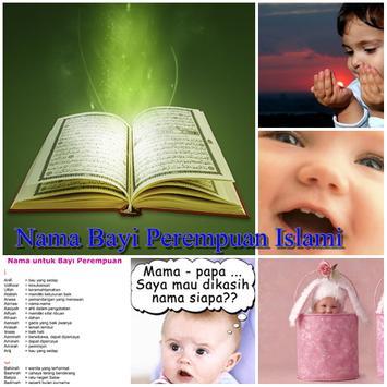 Nama Bayi Perempuan Islami poster