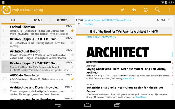 Project Email apk screenshot