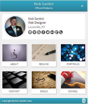 Nick Santini - Web Designer poster