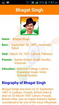 Indian Freedom Fighter apk screenshot