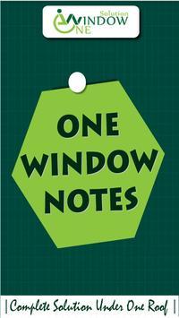 OneWindow Note poster
