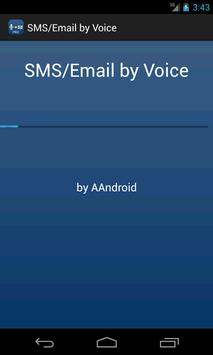 SMS / Email by Voice poster