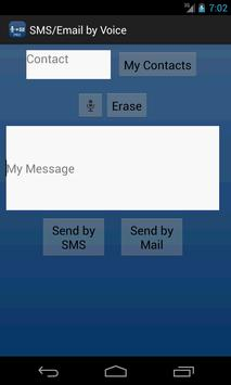 SMS / Email by Voice apk screenshot