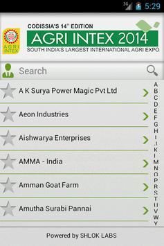 AGRI INTEX 2014 apk screenshot