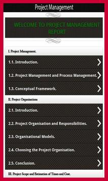 Project management poster