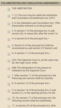 Arbitration & Conciliation Act apk screenshot