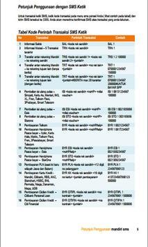 Panduan Mandiri SMS Banking poster