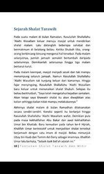 Tuntunan Solat Tarawih & Witir apk screenshot