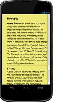 Albert Einstein Famous Quotes apk screenshot