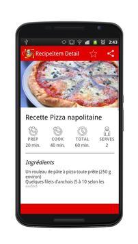 Pizza Recettes apk screenshot