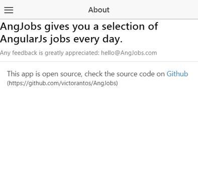 AngJobs - angularJs jobs apk screenshot