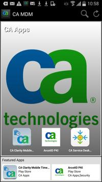 CA Mobile Device Management poster