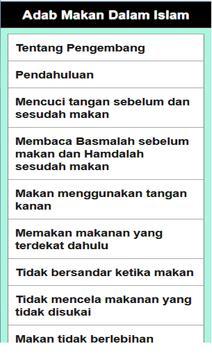 Adab Makan Dalam Islam poster